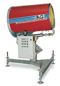 Emissionsschutz mit Staubbindemaschine IAG ESM150 Niederdruck