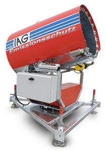 Emissionsschutz mit Staubbindemaschine IAG ESM70 Niederdruck