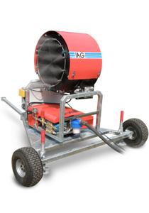 Emissionsschutz mit Staubbindemaschine IAG ESM70 Hochdruck