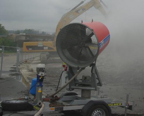 IAG Staubbindemaschine ESM im Einsatz